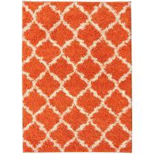 5x7 Area Rugs by Ottomanson Ultimate Shaggy Contemporary Moroccan Trellis Design
