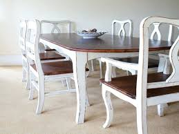 Farm House Dining Chairs Shabby Chic Dining Table Ideas A Farmhouse With Chalk Paint The
