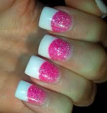 pink acrylic nail designs glitter acrylic nail designs nail