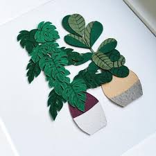 paper craft cacti that fits in the palm of your