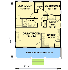 2 bedroom cottage floor plans cozy 2 bed cottage house plan 2596dh architectural designs