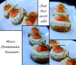 canap au saumon fum et mascarpone mini cheesecake au saumon fumé aux becs sucrés salés