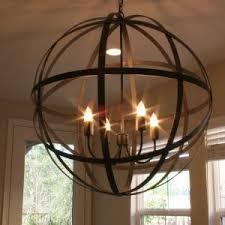 Modern Sphere Chandelier Lighting Interesting Globe Chandelier For Placed Modern Living