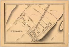 Map Of The Erie Canal The Erie Canal In Albany And Watervliet 1834 U2013 Hoxsie