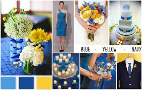 Colour Combination With Blue Wedding Color Schemes Blue Yellow U0026 Navy Wedding Dress