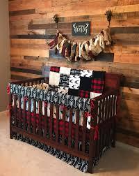 Sock Monkey Baby Bedding Baby Boy Crib Bedding Buck Deer Black Arrows Lodge Red