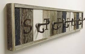 personalized reclaimed wood coat rack barn wood hooks get best gift