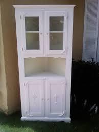 antique white corner cabinet shabby rose decor antique corner hutch