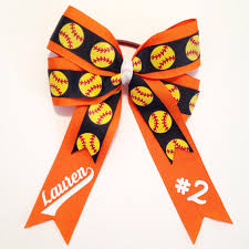 softball bows custom softball bows unique bonnets n bows online store