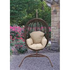 Swing Indoor Chair Hanover Outdoor Furniture Rattan Wicker Pod Swing Chair With Full