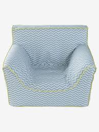 fauteuil bebe avec prenom fauteuil en mousse personnalisable bleu beige vertbaudet