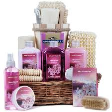 spa baskets cherry blossom spa basket suppliesforgiftbaskets gifts for