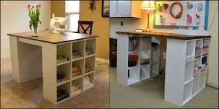 Craft Desk Diy Diy Bookshelf Craft Table The Owner Builder Network