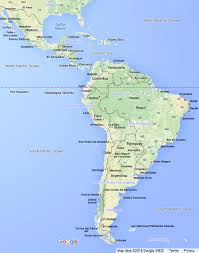 The Americas Map South America Map Including Central America With Links To