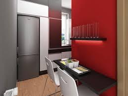 studio apartment decorating eas modern design with red interior