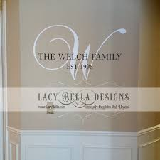 Personalized Family Name Monogram Wall Decal Vinyl Lettering Home - Family room wall decals