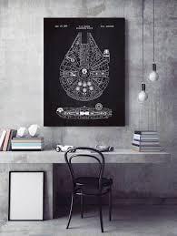 Star Wars Office Decor Amazon Com Inked And Screened Star Wars Millennium Falcon Design