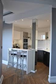 cuisine couloir cuisine ouverte sur couloir cuisine en image