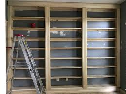 how to build a built in bookcase without any carpentry skills