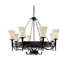 0818 8bk cartwheel 8 light black ceiling fitting