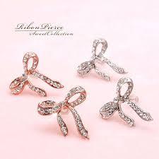 bow earrings accessoryshopbarzaz rakuten global market ribbon ribbon