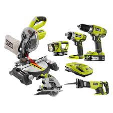home depot miter saws black friday ryobi 18 volt one lithium ion cordless combo kit with miter saw