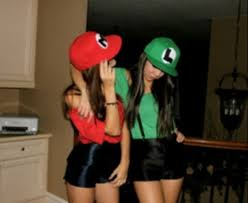 Mario Halloween Costumes Girls Hat Halloween Mario Luigi Costume Bff Shorts Costumes