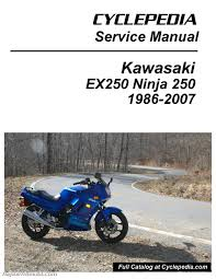 1986 2007 kawasaki ninja ex250 cyclepedia printed motorcycle