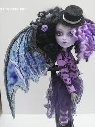 monster high doll halloween monster high custom repaint purple halloween fairy by rach hells