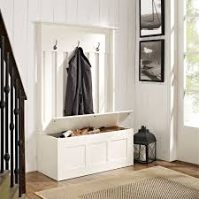 Entryway Storage Bench by Crosley Ogden Entryway Hall Tree White Hayneedle