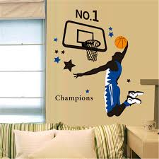 popular basketball wall decor buy cheap basketball wall decor lots 2016 new diy home decoration wall sticker sports play basketball wall stickers for living room study