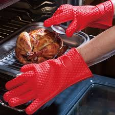 gant cuisine silicone 1 paire silicone résistant à la chaleur gants multifonction four