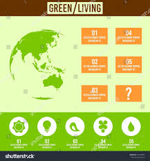 greenliving green living concept infographic stock vector 570470080 shutterstock