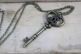 antique key necklace images Wholesale the large skeleton key necklace in antique brass finish jpg