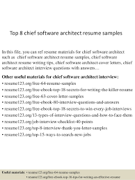 Architectural Resume Examples by Top 8 Chief Software Architect Resume Samples 1 638 Jpg Cb U003d1437636548