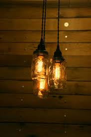 Jar Pendant Light 3 Jar Pendant Light Mason Jar Chandelier By Industrialrewind