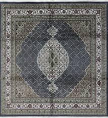 Square Area Rugs 10 X 10 10 X 10 Mahi Design Navy Blue Square Tabriz Wool U0026 Silk Area Rug