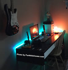 Under Desk Lighting Under Desk Led Lighting This Ikea Desk Is All About Setting A