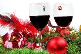 Christmas Wine Christmas Eve Magnetic Wine Charms Simply Charmed