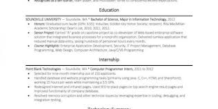 example entry level programmer resume science resume template