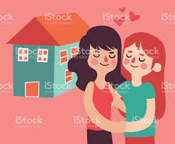 couple buying a new house stock vector art 494226792