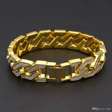 bracelet gold mens images 2017 men 39 s luxury flash powder diamond fashion bracelets gold jpg