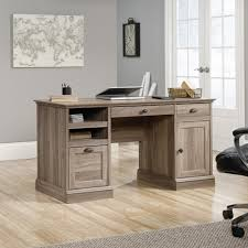 amazon com sauder barrister lane executive desk in salt oak