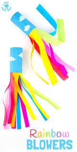 cardboard tube rainbow blowers rainbow craft kids craft room