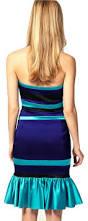 karen millen signature satin blue halterneck striped dress