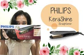 Catok Ion philips kerashine straightener with keratin ion condition less