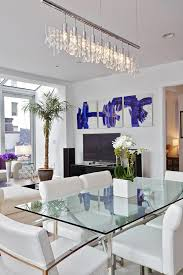 Linear Chandelier Dining Room Linear Chandelier Dining Room Eclectic With Ceiling Lighting