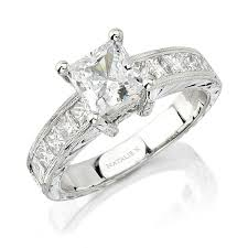 white gold princess cut engagement ring natalie k 14k white gold princess cut en