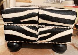 Zebra Ottoman Furniture Small Square Zebra Ottoman Decorative Zebra Ottoman