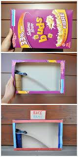 cereal box race ramp this is such a cute simple to make kids